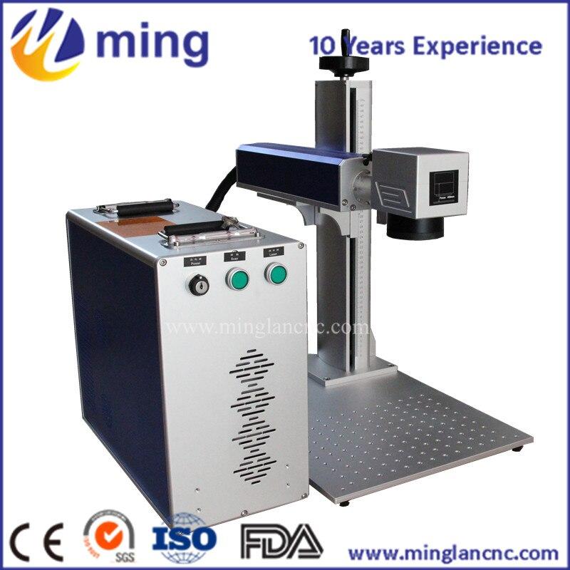 Machine de marquage de laser de fibre de la machine 20 W 30 W d'étiquette d'oreille animale pour le métal et non le métal
