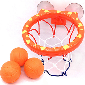Basketball Hoop Bath Toy on Suckers Set for Child Kid Outdoor Game Development of Boy Interesting Indoor Sport Tool Kit for Baby(China)