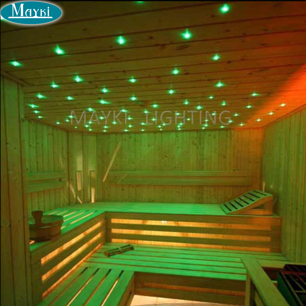 Maykit 2018 Optical Fiber Led Sauna Light  Using High Quality 1.0mm End Emitting Cable With Black Pvc Coating 500m/Roll