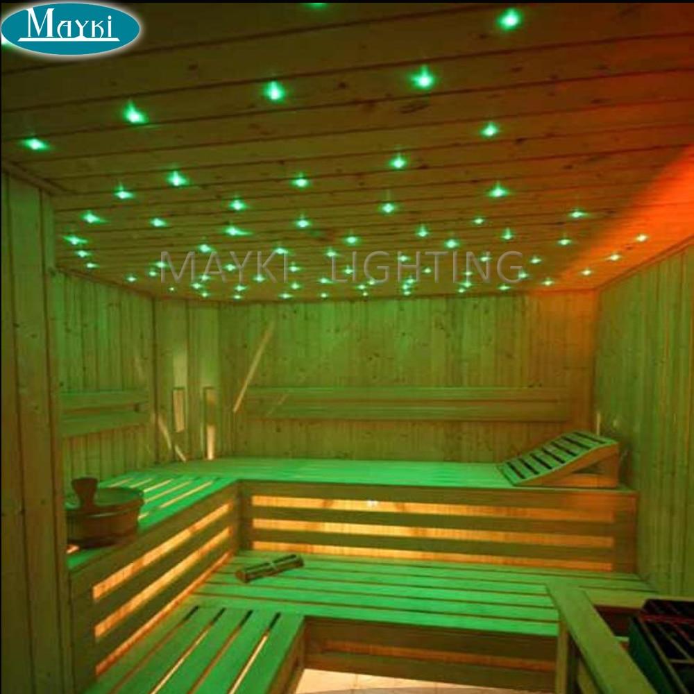 Maykit 2018 Fiber optique a mené la lumière de Sauna utilisant le câble émettant dextrémité de haute qualité de 1.0mm avec le revêtement noir de Pvc 500 m/petit pain