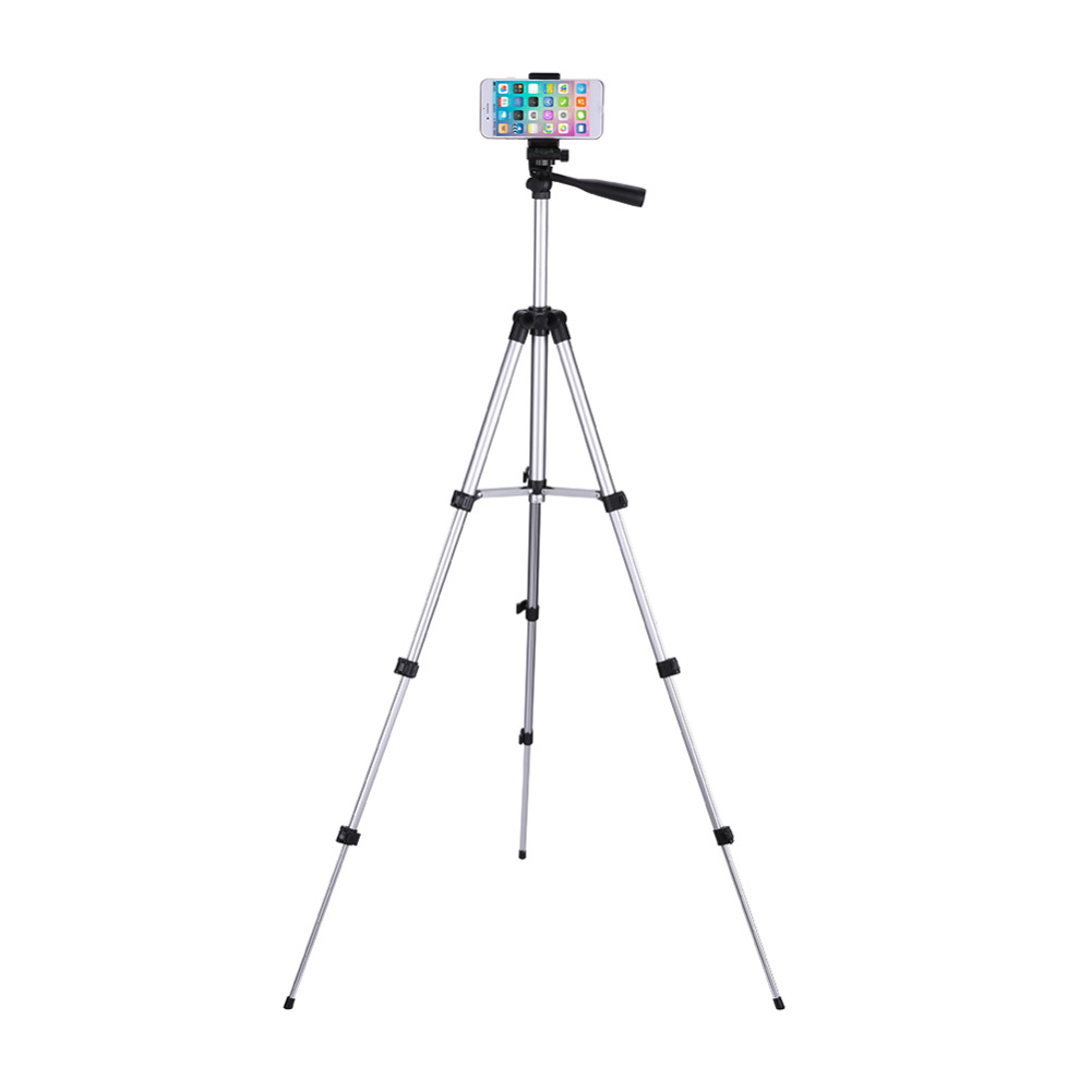 ALLOET Unfolded 1060mm Camera Tripod Stand Holder +Table/PC Holder+Phone Holder+Carry Bag For Smart Phone Tripod For DSLR Camera цена