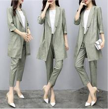 Women 2 Pieces Set Blazer And Pants Fashion Office Ladies Blazer Pants Set Long Sleeve Side Striped Belt Elegant Blazer Street