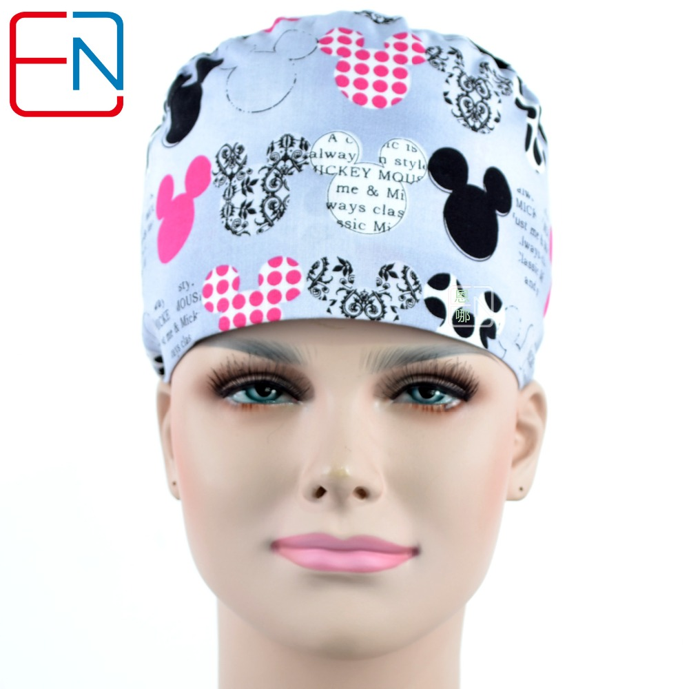 NEW  Long Hair Surgical Cap Doctors And Nurses 100% Cotton  With Sweatband
