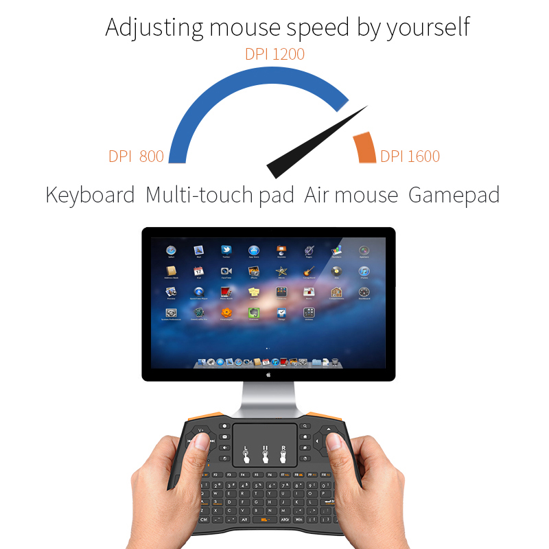 Image 5 - Mini Wireless Gaming Keyboard 2.4GHz Air Mouse Keyboard Remote Control Touchpad For Smart TV Tablet Laptop Xbox 360 PS4 Keyboard-in Keyboards from Computer & Office