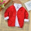 100% la calidad del algodón niños y niñas cardigan sweater coat todo para los niños ropa y accesorios del bebé ropa del otoño del resorte