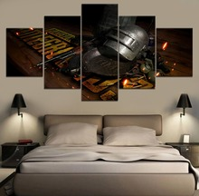 HD Print Painting PUBG Game 5 Pieces Picture Top-Rated Canvas Wall Art Decorative Modular Framework Modern Artwork
