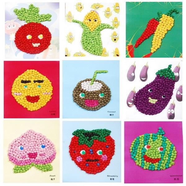Creative Diy 3d Puzzle Handmade Crumpled Paper Ball Art Craft Fruit