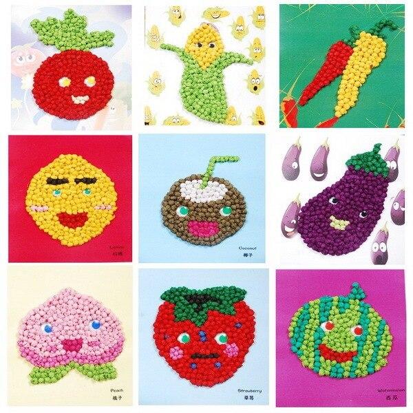 Diy 3d Puzzle artesanal bola de papel artesanato frutas