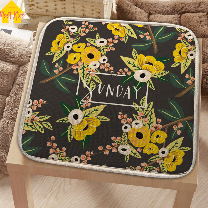 Meet Nice 2018Cotton Linen Seat Pad Patio Solid 6Colors Paiting Garden Square Indoor Dining On Office Chair Foam New Cushion Hot