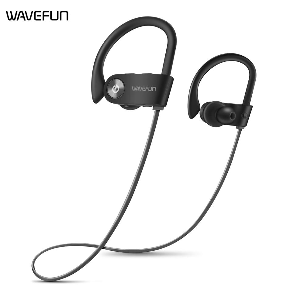 Wavefun X Buds wireless bluetooth headphones IPX7 waterproof stereo with bass sports earphone with Mic earbuds for phone xiaomi-in Phone Earphones & Headphones from Consumer Electronics on AliExpress