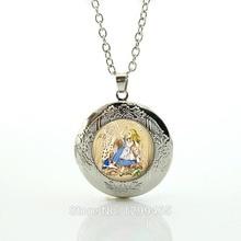 Alice in Wonderland Necklace - Vintage Antique Picture Pendant Jewelry Charm Glass Gem Cabochon Photo Pendant Necklace N615