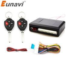 Eunavi Universal Auto Kit Central remoto de coche de desbloqueo cerradura sistema de entrada sin llave de bloqueo Central LED indican botón de apertura de maletero