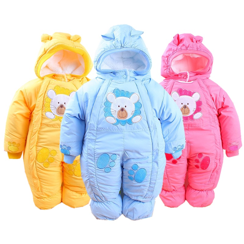Winter Baby Rompers Fashion Brand Cotton Fleece Ropa Bebe Infant Girl Jumpsuit Kids Clothing Newborn Baby Boy Clothing Outwear new baby rompers autumn baby boy girl jumpsuit star and moon smiling long sleeve newborn infant clothing ropa recien nacido