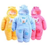Baby Winter Romper 2016 Fashion Brand Animal Style Overalls Warm Long Sleeve Hooded Cotton Rompers Newborn