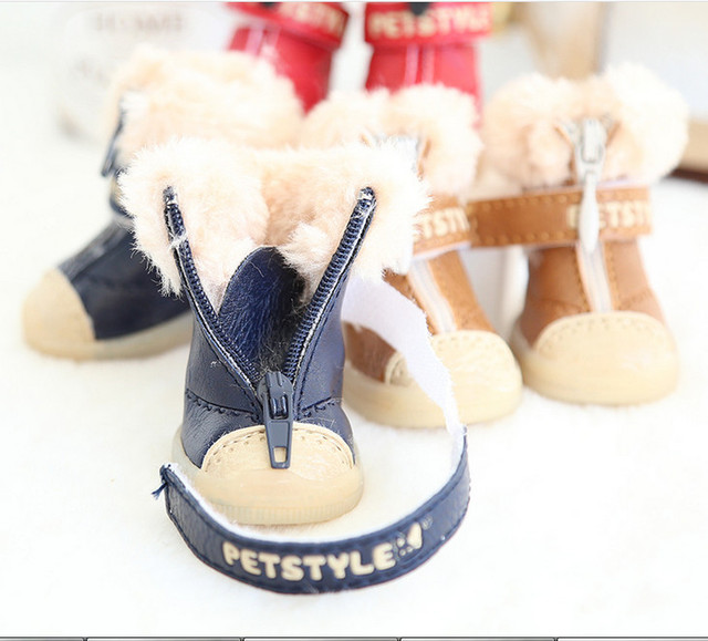 Plush Snow Boots for Dogs 3