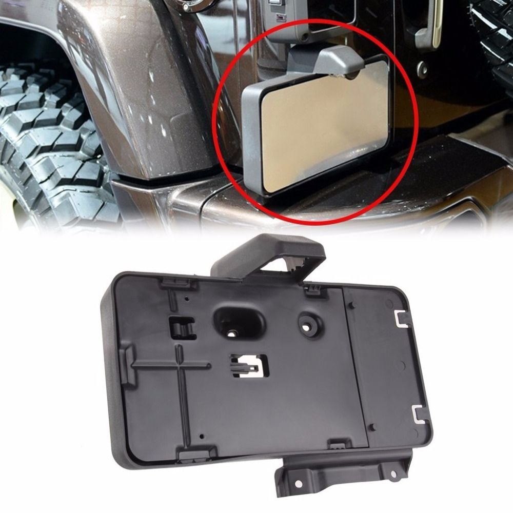 Black Rear License Plate Holder Frames Bracket For Jeep Wrangler JK 2007- 2016 License Plates Mounting Bracket 2 pcs black car styling parts front rear grab bar handles for jeep wrangler jk 2007 2017 new fashion upgraded