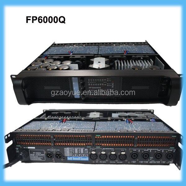 Professional high power amplifier FP6000Q amplifier for outdoor stage 1000 watt power amplifier lab gruppen fp10000q for outdoor activities dj equipment public address power amplifier
