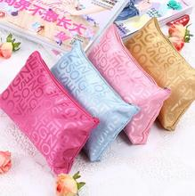 Letter printing multicolor brand cosmetic bag portable small travel organizer women European style make up bag zipper beauty bag