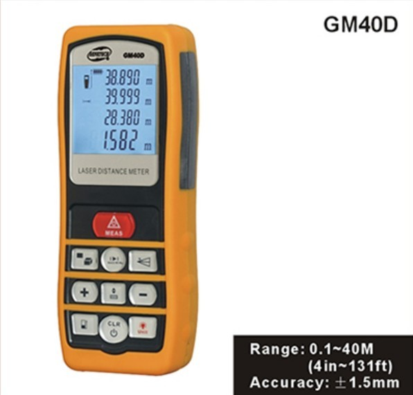 Professional Portable Photoelectric Laser Distance Meter Volume Tester 0.1m~40m Measure Range Finder high quality new gm100d photoelectric laser distance meter volume tester 100m range finder