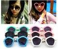 2016 Frescos À Moda Meninos Meninas Miúdos Óculos de Sol Óculos de Plástico Frame Criança Goggles 6 Cor de Sombreamento Exterior UV400 Gafas 10 pçs/lote