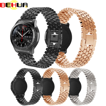 22mm Stainless Steel Watch Band Strap For Samsung Gear S3 Frontier Classic galaxy 46mm for huawei GT 2 smart watch Link bracelet stainless steel strap for samsung galaxy watch band 46mm gear s3 frontier classic straps bracelet 22mm wrist replacement band