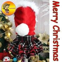 손으로 만든 크리스마스 스타일 개 드레스 애완 동물 스커트 스커트 몰타어 요크셔 비숑 의류 개 망토 애완 동물 의류