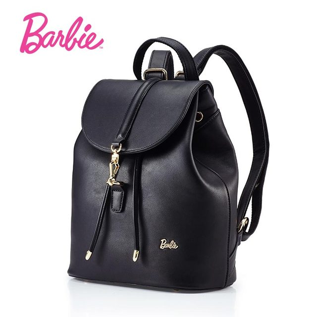 Barbie Women Backbags Simple Style S Leather Shoulder Bags Student Bag Fashion Trend Brief For