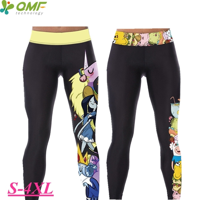 Adventure Time Fitness Yoga Sport Pants Finn   Jake Running Compression  Leggings Elastic High Waist Athletic ab5014ddb026