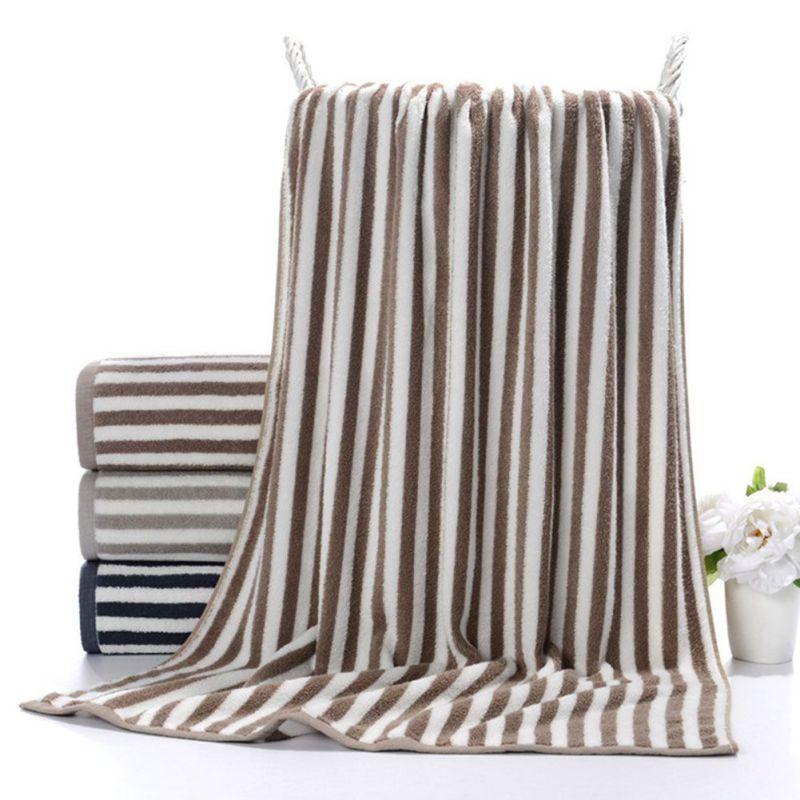 Cotton Beach Towels Stripes Thin Bath Towel Travel Camping
