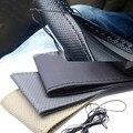 1 PC DIY Car Cover Volante Com Agulhas e Linhas de couro Artificial Cubos Das Rodas Volantes de kits diy