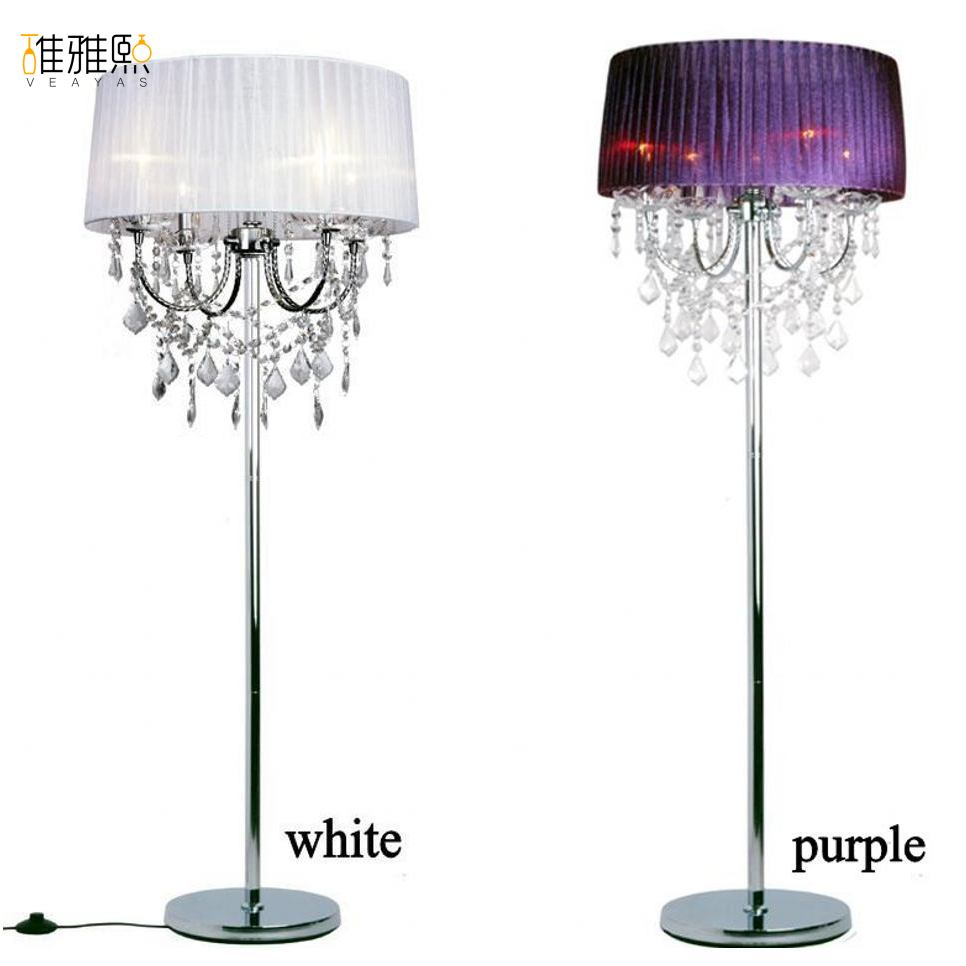 4 Bulb Floor Lamp - 14 color lampshade 4 pcs bulb holder fabric lamp shade Bulb Floor Lamp
