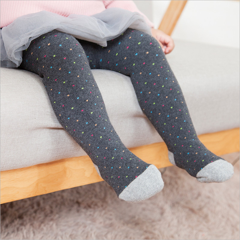 Thick Warm Tights For Baby Girls Toddlers Princess Terry Thicken Winter Tight Dots Dancing Ballet Shoes Pantyhose Cotton Autumn