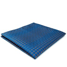 BH5 Blue Bisque Geometric Silk Mens Pocket Square Fashion Classic Handkerchief Dress Hanky