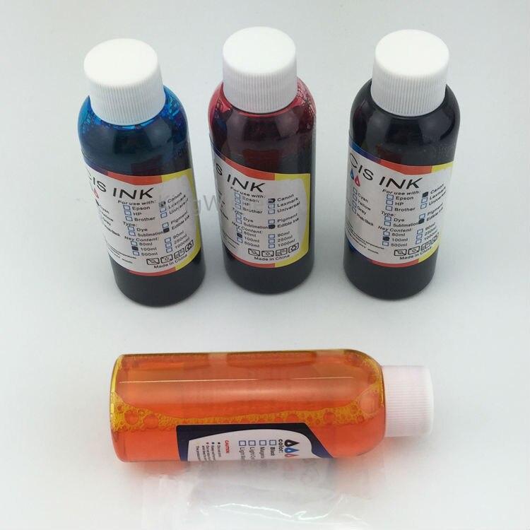 ФОТО Free Shipping 100ML x 4PCS T1321 T1322 T1323 T1324 Edible Ink For Epson N11 NX125 NX130 Printer