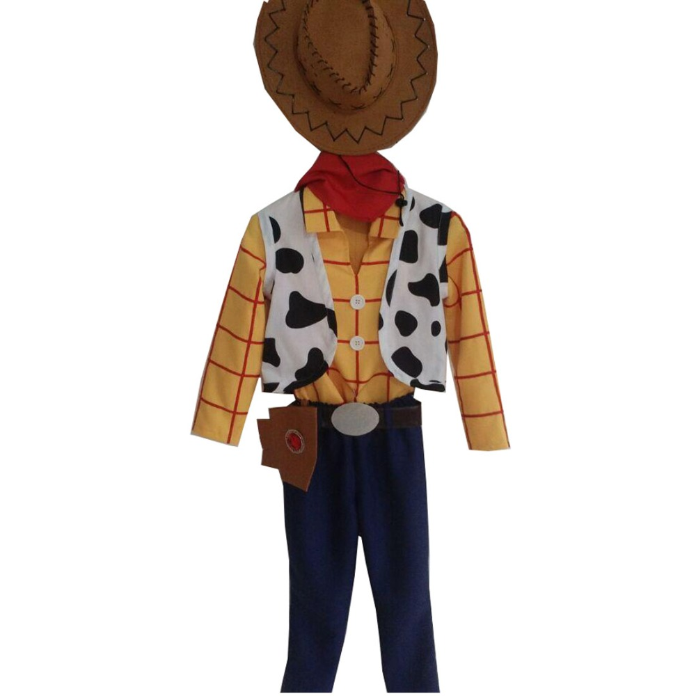2017 Toy Story Cowboy Sheriff Woody Outfit Halloween Men