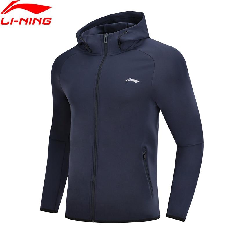 Li Ning Men Training Series Sweater 91 Polyester 9 Spandex Regular Fit LiNing Comfort Sports Coats
