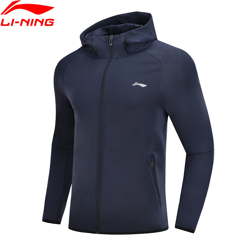 Li-Ning Men Training Sweater 91% Polyester 9% Spandex Regular Fit LiNing Li Ning Comfort Sports Coats Tops AWDN345 MWW1418