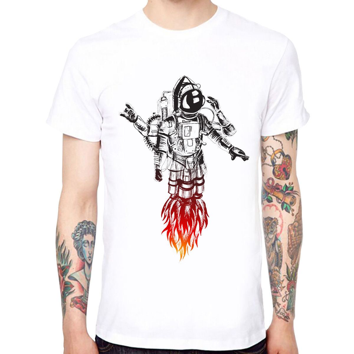 Launched Off Mens Soft Cotton Funny Cool T-shirts Short Sleeve Tops Tee Print T-Shirt Summer Style Top Tee Men Clothing