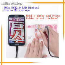 Wholesale prices Portable 1.3MP 200x USB 2.0 LED Illumination Digital Stereo Microscope Stamp Jewelry Magnifier