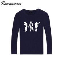 18c21ae3 Men's Michael Jackson Space Walk Long Sleeves T-shirts Tops Women/Men Michael  Jackson Hip Hop Ablum Fans Cotton O-Neck T-shirts