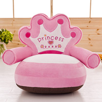 Baby Bean Bag Cartoon Crown Bear Only Cover No Filling Toddler Nest Puff Seat Skin