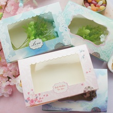 30pcs 21.6*14.5*5cm love sky and this garden design Paper Box cookie Macaron Chocolate wedding Birthday Party Gifts Packaging