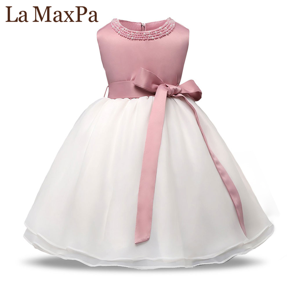 Christening Baby Party Girl Dress Wedding for Girls 1 year Birthday Newborn Kids Dresses Princess Infant tutu Dress Girl Clothes 2016 new flowers dress for girls for wedding and party summer baby clothes princess party kids dresses for girl infant costume