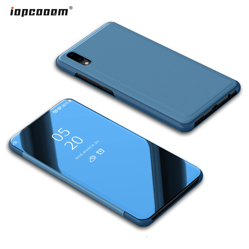 Vivo V11 caso V11i cubierta de lujo elegante transparente Mirror Funda de cuero Flip para Vivo V11 Pro teléfono Shell funda Coque