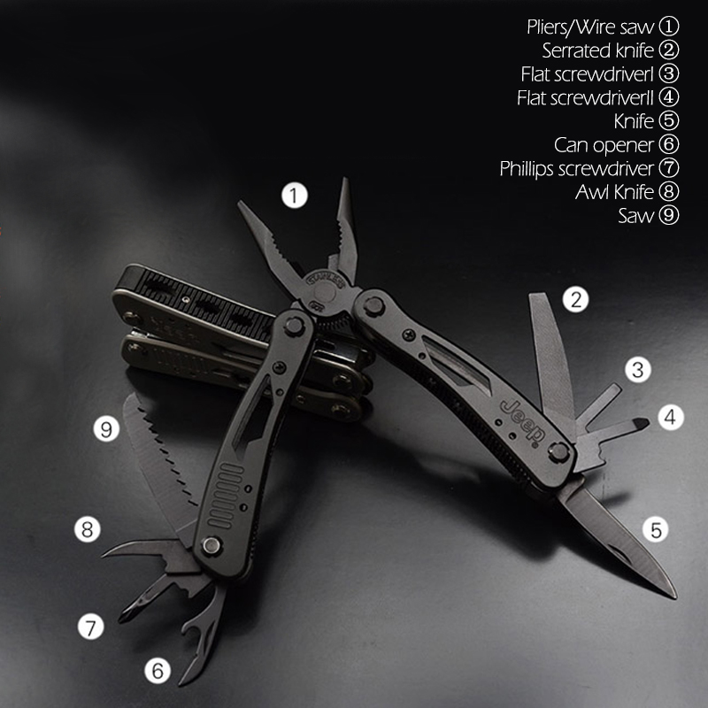 Security & Protection ... Self Defense Supplies ... 32765106591 ... 3 ... High Quality Outdoor Survival Multifunction Plier Stainless Tungsten Alloy Pocket Multi tools Knife Camping Kit ...