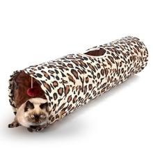 Леопард Кошка Туннель Кошка Кролик Игрушки Играть Туннель Складной Длинные Смешные Прохладный Котенок Игрушки Бесплатная Доставка