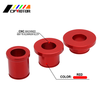 Motorcycle CNC Aluminum Front Rear Wheel Spacers For Honda XR250R XR 250 R 250R 1996-2004 CRF230L CRF 230L 230 L 2008 2009 image
