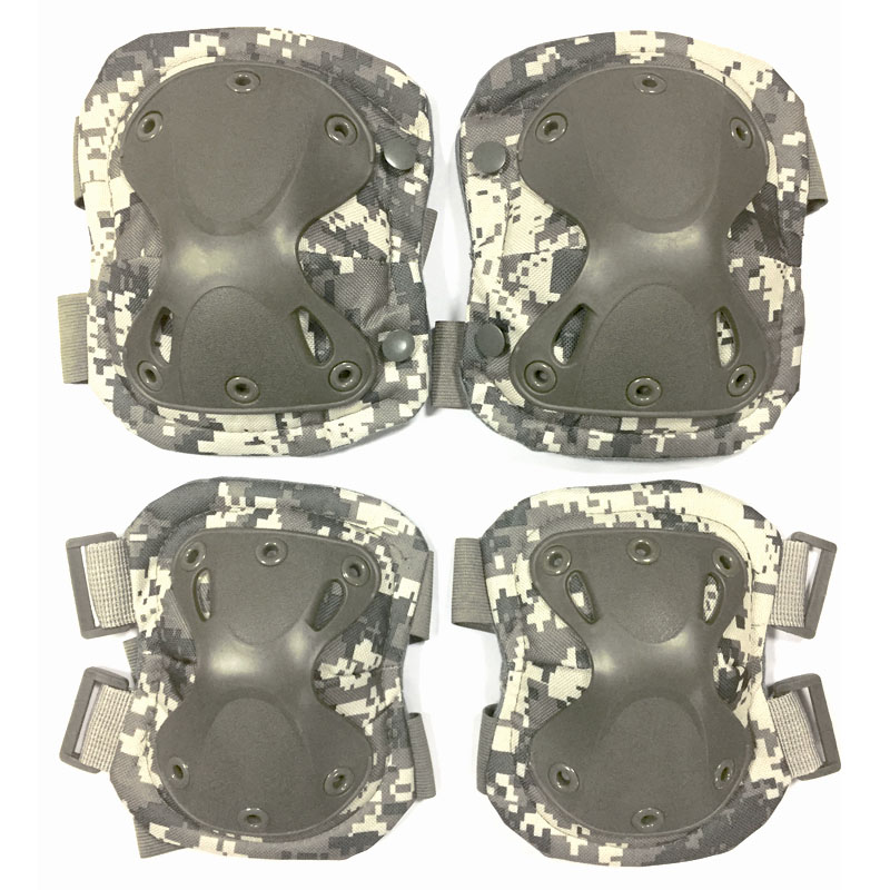 Military Tactical Knee Pads & Elbow Support Paintball Airsoft Kneepad Knee Protector Set Hunting Skate Scooter Kneepads Sports