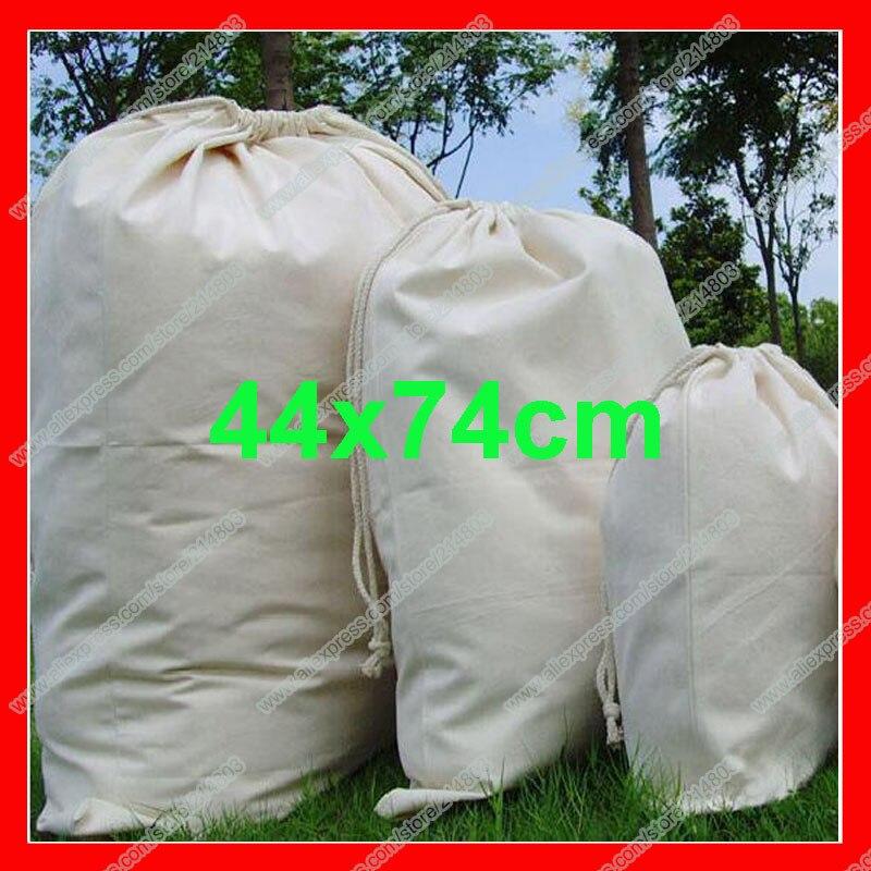 100pcs lot size 44x74cm high quality large drawstring storage bag cotton