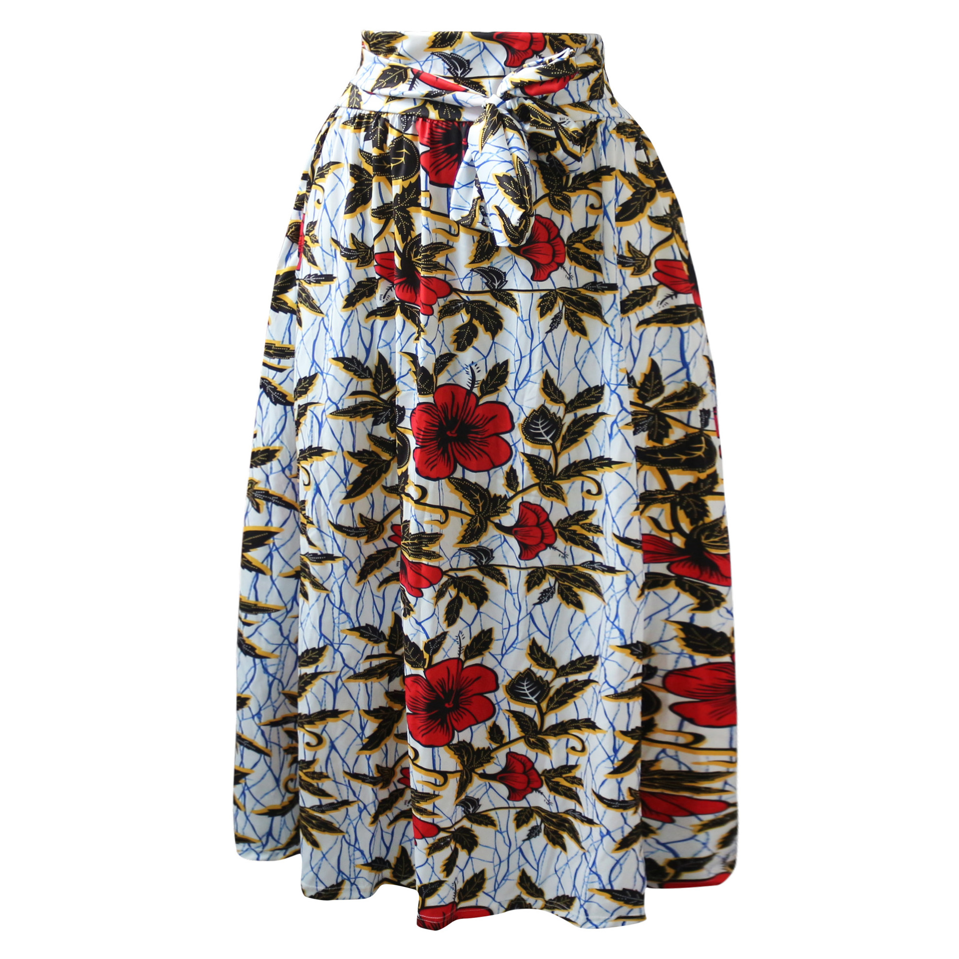 0ff688f41b53b US $19.38 49% OFF|Plus Size Africa Clothing 5XL Indonesia Ankara Indian  African Pattern Print Skirt For Women Fashion Bandage Skirts With Belt-in  ...